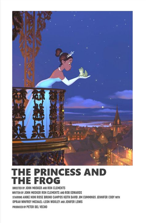 The Princess and The Frog minimal A6 movie poster