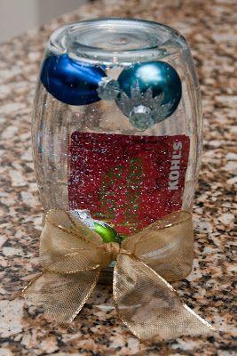 The Sweatman Family Gift Card Snow Globe Christmas Gift Card Globe Gift Diy Gift Card