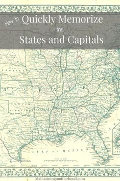 Looking for a trick to quickly memorize States and Capitals? Learn how you can teach even your youngest kids to easily memorize States and Capitals! States And Capitals, U.s. States, Us History, American History, 5th Grade Social Studies, Homeschool Curriculum, Homeschooling, Kids Education, Organizer