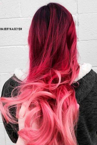 Find A New You With These Red Ombre Hair Ideas Pink Ombre