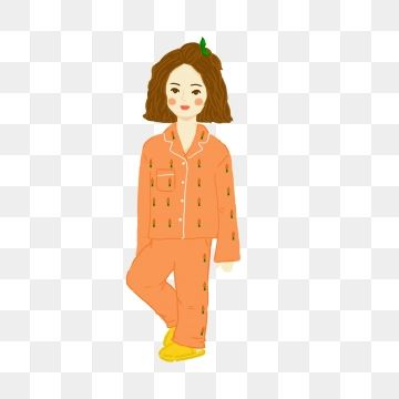 Wearing Pajamas Png Images Vector And Psd Files Free Download On Pngtree Black And White Cartoon Cartoon Posters Girl Cartoon