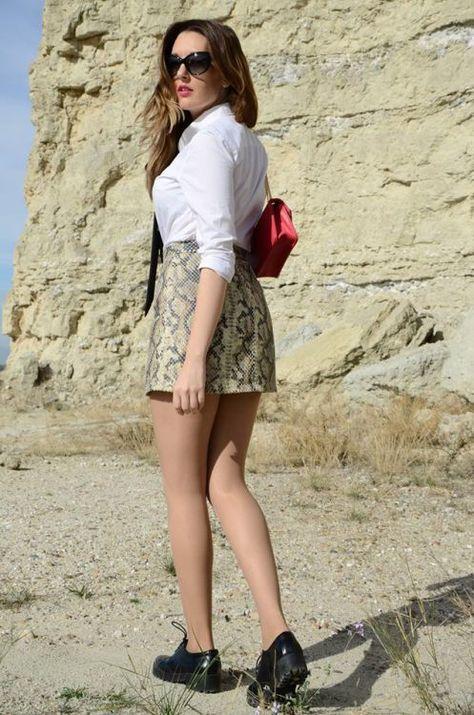Snake Print Skirt (One Use Fashion)