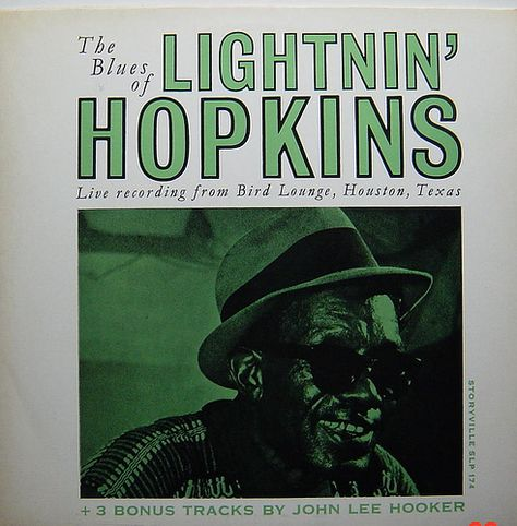 Lightnin Hopkins The Blues Of Blues Music Rhythm Blues Lp Cover
