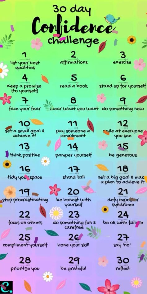 30 Day Confidence Challenge You Need To Do if you want to learn how to be more confident 🥰