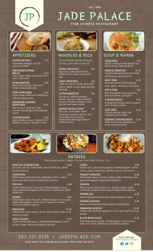 Chinese Menu Templates Easy To Customize Musthavemenus In 2020 Restaurant Appetizers Chinese Food Menu Chinese Menu