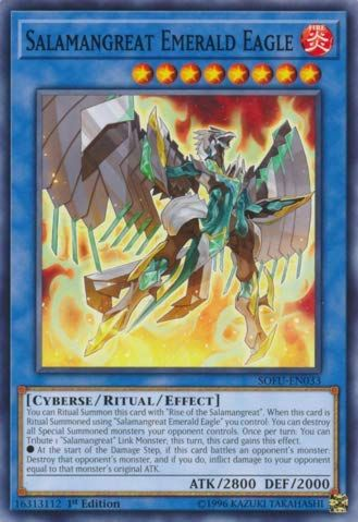 Yu Gi Oh Salamangreat Emerald Eagle Sofu En033 Soul Fusion 1st Edition Common Https Toys Boutiquecloset Co Yugioh Yugioh Cards Yugioh Trap Cards