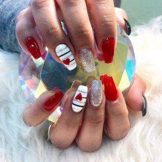 Heart Nail Designs, Valentine's Day Nail Designs, Acrylic Nail Designs, Best Nail Art Designs, Nails Design, Cake Designs, Decor Inspiration, Nails Inspiration, Toe Nails
