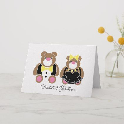 Cornish Wedding Or Anniversary Teddy Bear Card Zazzle Com Bear Card Cornish Wedding Anniversary Congratulations