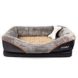 Joyelf Large Memory Foam Dog Bed Orthopedic Dog Bed Sofa With