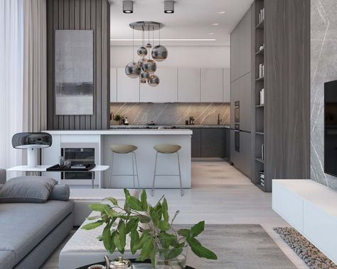 Simple Modern Apartment with Pastel Colors Looks So Cozy - RooHome | Designs & Plans