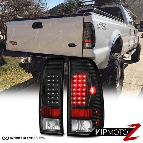 Ford 97 03 F150 99 06 F250 F350 Superduty Black Led Rear Tail Light Brake Lamp Diesel Trucks Truck Accessories Ford Trucks