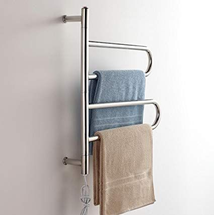 Wrh Towel Warmer Drehbare Wand Befestigter Edelstahl Elektrischer