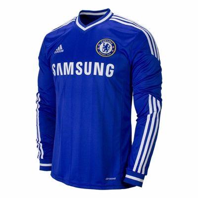 890fb6a7fd5 adidas Chelsea FC 2013 2014 Long Sleeve Home Soccer Jersey