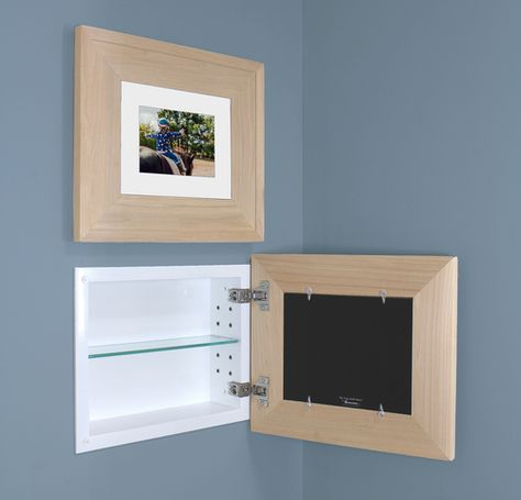 Landscape Unfinished Raised Edge Recessed Picture Frame Medicine Cabinet 14 W X 11 H With Images Recessed Medicine Cabinet Bath Remodel Picture Frames