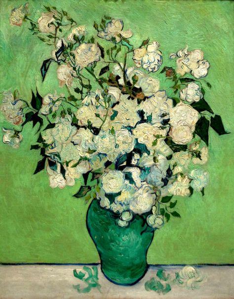 "elverdeverdad: "" Vincent van Gogh, Roses, 1890. """