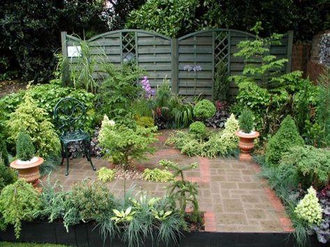 Informal English Garden Style Design Courtyard Gardens Design