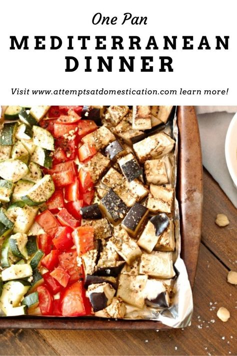 This Mediterranean-style sheet pan dinner is simple and delicious! It is an easy way to serve your family a healthy meal with minimal effort and clean up!