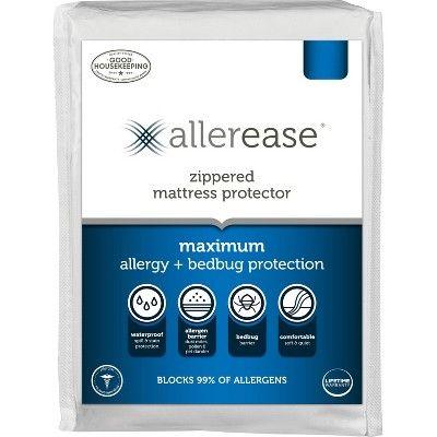 Queen Maximum Bed Bug And Allergy Mattress Protector White Allerease In 2020 Mattress Protector Mattress Waterproof Mattress