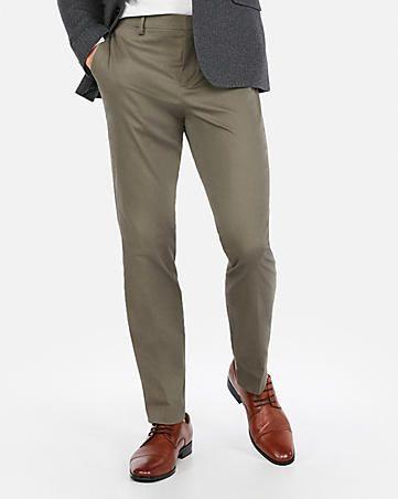 Details about Men's Dress Pants Flat Front Loose Fit Slacks Formal Straight Trousers Business