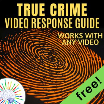 This One Page Forensics True Crime Response Sheet Will Work With Almost Any True Crime Video Or Article Tons Of Forensic F Forensic Files Forensics True Crime