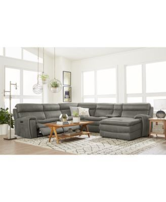 Prime Closeout Leilany 6 Pc Fabric Chaise Sectional Sofa With 2 Inzonedesignstudio Interior Chair Design Inzonedesignstudiocom