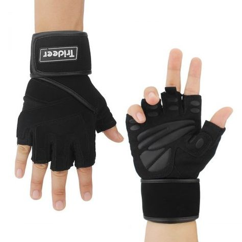 HOMPO Gym Gloves Workout Gloves Fitness Gloves for Exercise Weight Lifting Cross Training Pull-up Sorts Breathable Durable Gloves Women Men