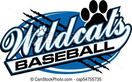 Wildcats Baseball Vector Stock Illustration Royalty Free Illustrations Stock Clip Art Icon Stock Clipart Icons Logo L Wild Cats Baseball Vector Art Icon