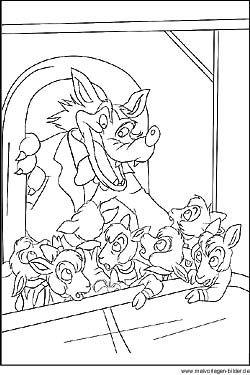 Malvorlage Vom Marchen Der Wolf Und Die Sieben Geisslein Ausmalbilder Malvorlagen Ausmalen
