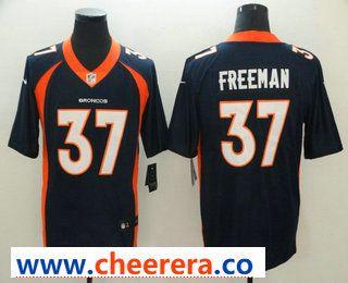 new arrival eace9 da1f9 Men's Denver Broncos #37 Royce Freeman Navy Blue 2017 Vapor ...