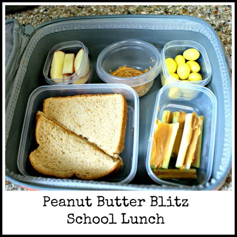Peanut Butter Lovers - classic sandwich with plenty of crunchy dippers like celery and apples