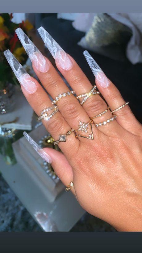 Milky Quartz Nails Best Acrylic Nails Long Acrylic Nails Clear Nail Tips