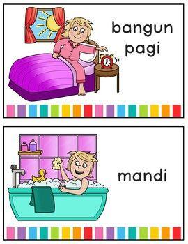 Bahasa Indonesianya Miss You : bahasa, indonesianya, Daily, Routine, Activities, Indonesian, Bahasa, Indonesia, Activities,, Routine,, School, Morning