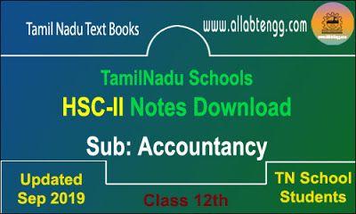 Allabtengg Com 2019 Hsc Ii Accountancy Notes Download English Me Science Notes Economics Notes Commerce Notes
