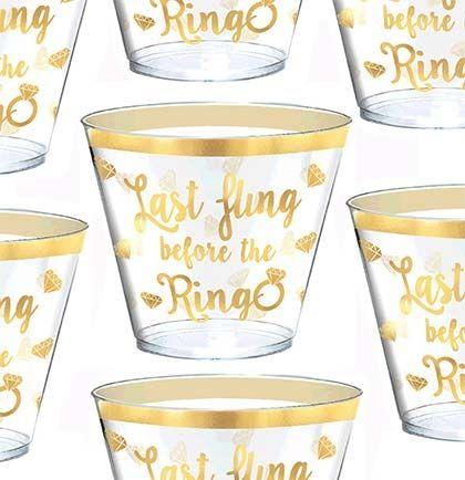 Last Fling Before The Ring Bachelorette Bash Bachelorette Party Cups Bachelorette Cups Frosted Cups Hen Party Cups Frost Flex Cups