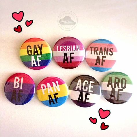 """Pride Pins by dreamsandpocky show off your lgbt pride with these buttons!- 1.5"""" buttons- hand pressed so each one is unique"""
