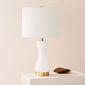Metalized Glass Table Lamp Usb Large White Westelm Glass Table Lamp Table Lamp Ceramic Table Lamps