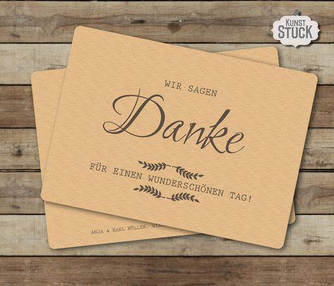 """Danksagungskarten - Dankeskarte """"Typo Love"""" - ein Designerstück von kunstueck bei DaWanda"""