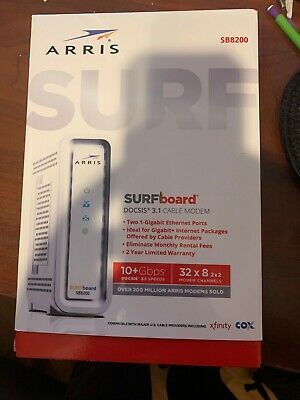 Ebay Link Ad Arris Surfboard Sb8200 Docsis 3 1 10 Gbps Cable Modem In 2020 Cable Modem Modems Arris