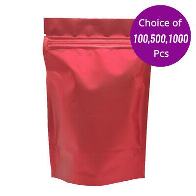 Download 3 25x5in Matte Double Side Red Foil Mylar Stand Up Zip Lock Pouch Bag W Machine Pouch Bag Red Foil Pouch