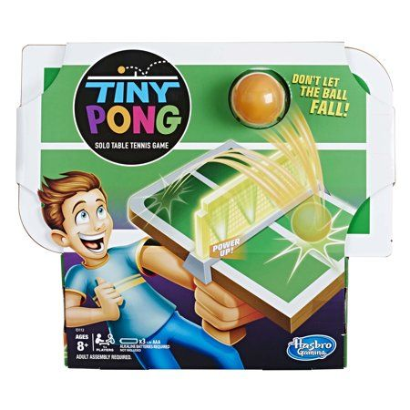 Tiny Pong Solo Table Tennis Kids Electronic Handheld Game Walmart Com Table Tennis Game Tennis Games Solo Games