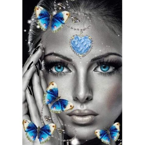 5D Diamond Painting Blue Eyed Butterfly Girl Kit Offered by Bonanza Marketplace. www.BonanzaMarketplace.com #diamondpainting #5ddiamondpainting #paintwithdiamonds #disneydiamondpainting #dazzlingdiamondpainting #paintingwithdiamonds #Londonislovinit #Butterfly