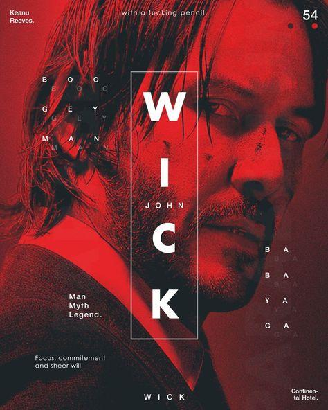 John wick tribute poster by @rahalarts
