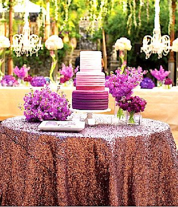 120 Orchid Purple Sequin Table Linen Purple By Sparklesoiree