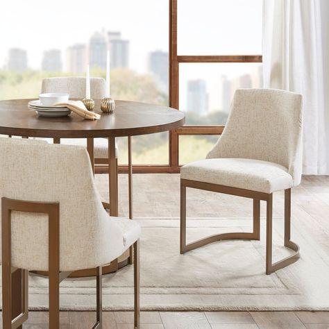 Madison Park Robertson Cream Dining Chair Set Of 2 21 W X 22 D
