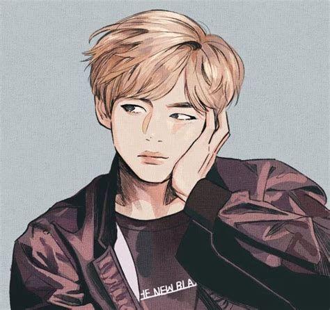 V Bts Drawings Mungfali Taehyung Fanart Bts Drawings