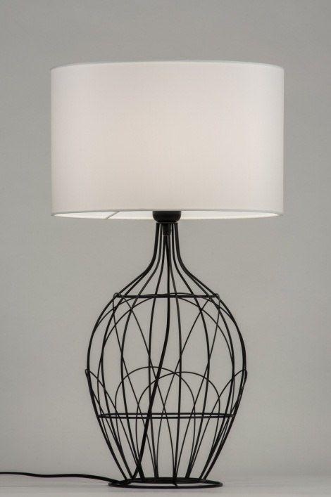 10306 1 Tafellamp Rustiek Wit Rustiek Modern