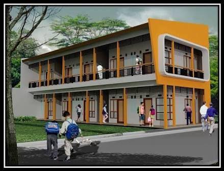 Desain Rumah Kontrakan 2 Lantai Minimalis Cek Bahan Bangunan