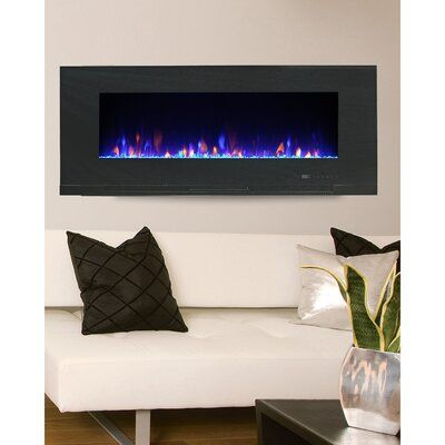 Paramount Mirage Recessed Wall Mounted Electric Fireplace Size 20 08 H X 42 W X 4 72 D Wall Mount Electric Fireplace Electric Fireplace Wall Mount