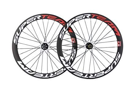 Superteam Carbon Disc Wheelset Road Bike 700c 50mm Clincher With