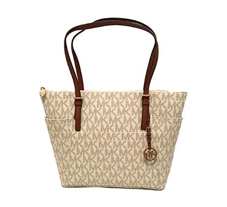 Michael Kors East West TZ Tote PVC Vanilla Luggage